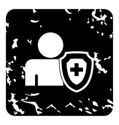 Medical insurance concept icon simple style vector image