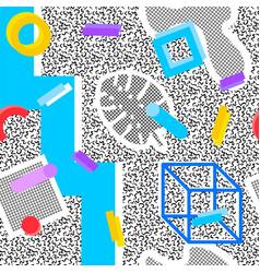 Memphis seamless pattern vector