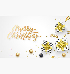 merry christmas holiday background template of vector image