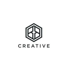 Modern logo letter initials bb vector