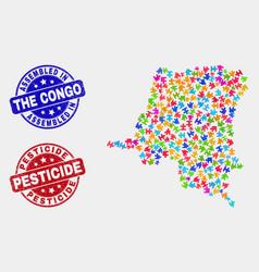 Module democratic republic congo map and vector