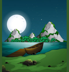 Nature landscape at night vector