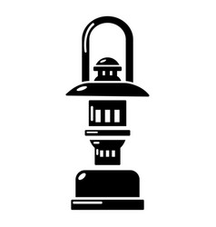 Oil lamp icon simple style vector