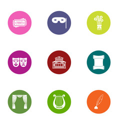 Pretence icons set flat style vector