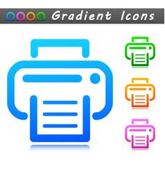 Printer design symbol icon vector