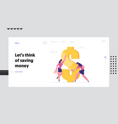 profit and wealth website landing page employee vector image