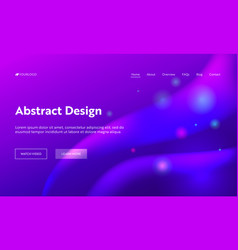 Purple abstract geometric sparkle landing page vector