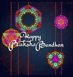 raksha bandhan greeting card design vector image