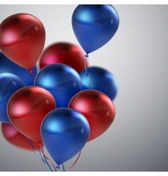 Red And Blue Balloon Bunch vector