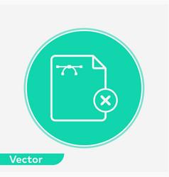 remove file icon sign symbol vector image