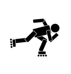 Roller skating sport vector