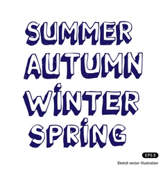 Seasonal fonts vector image
