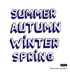 Seasonal fonts vector