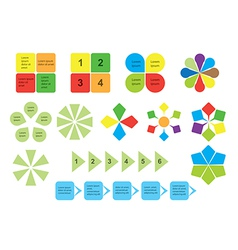 set of infographics - elements vector image