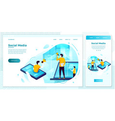 social network work process people chatting vector image