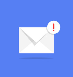 suspicious email like spam or virus vector image