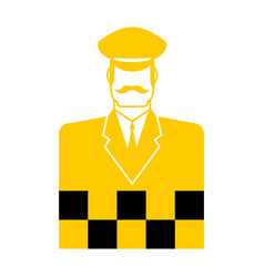 taxi driver icon cabbie sign cabdriver symbol vector image