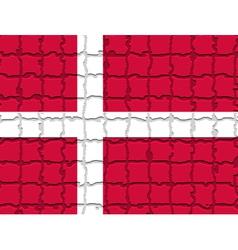 The mosaic flag of Denmark vector