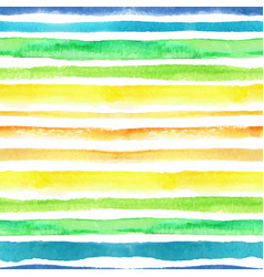watercolor strips seamless patternblue green vector image