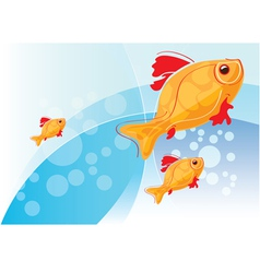 With gold fish vector
