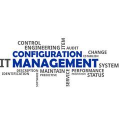 Word cloud - configuration management vector