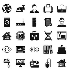 Loan icons set simple style vector