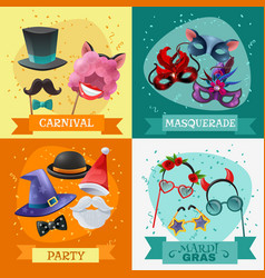 photo booth party 2x2 design concept vector image