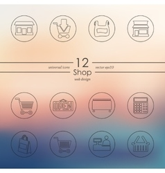 Set of shop icons vector