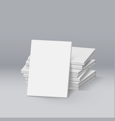 stack of blank white books mockup template for vector image vector image
