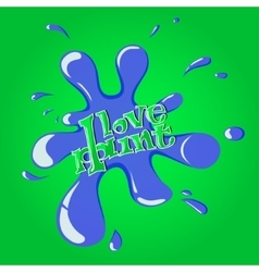 Blue Splash on green background eps10 vector image vector image