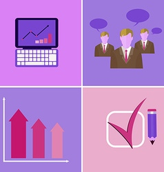 Business Meeting Presentation Elements vector image vector image