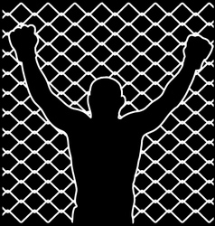 champion silhouette vector image vector image