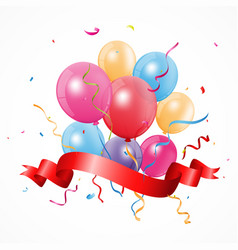 happy birthday background with balloon vector image vector image
