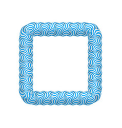 lollipop blue square frame vector image