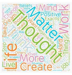 Mind over matter the power of thoughts text vector
