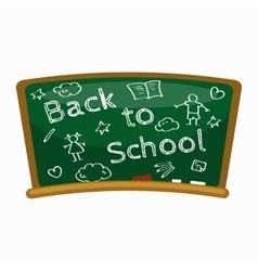 Back to school background blackboard for back to vector image