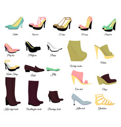 big shoes set vector image vector image