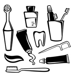 body care objects vector image vector image
