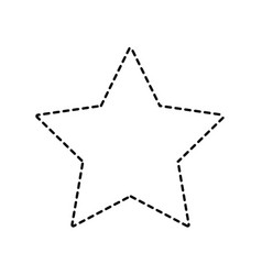 dotted shape rating star symbol and element status vector image vector image