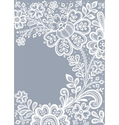 Floral Background Lace vector image vector image