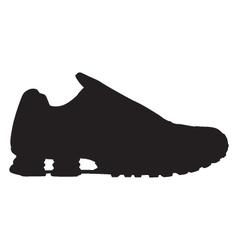 Running shoe - sneaker silhouette vector image