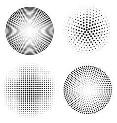 set of halftone spheres vector image
