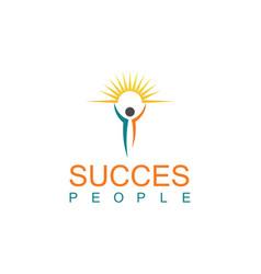 succes people logo vector image