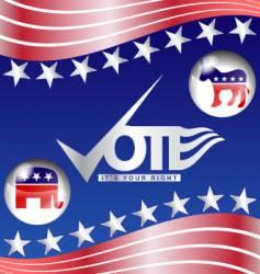 vote slogan vector image