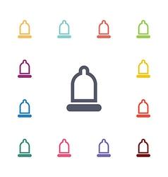 condom flat icons set vector image