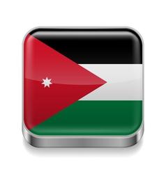 Metal icon of Jordan vector image