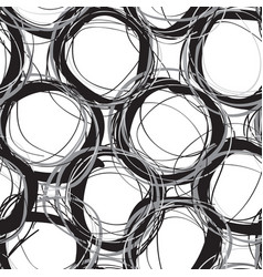 scribble circles seamless pattern vector image