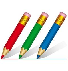 Short pencils vector image vector image