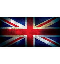 Union Jack United Kingdom Flag Grunge vector image