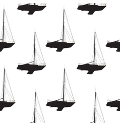 Water Boat Sailboat Seamless Pattern Background vector image vector image